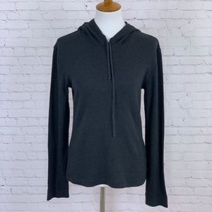 J. Crew Top Hoodie Gray Womens Size Large